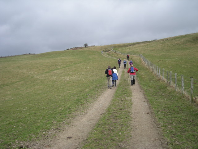 Walkers on Offa's Dyke Path