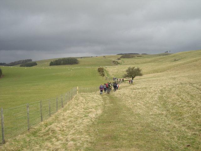 Rain clouds gathering over Offa's Dyke Walk