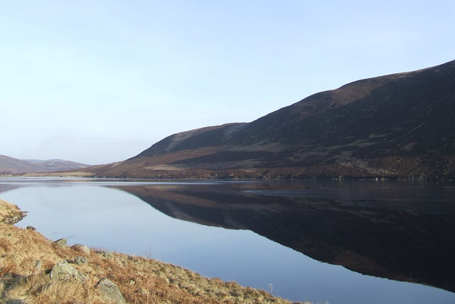 Loch Lee looking towards Tod Craig