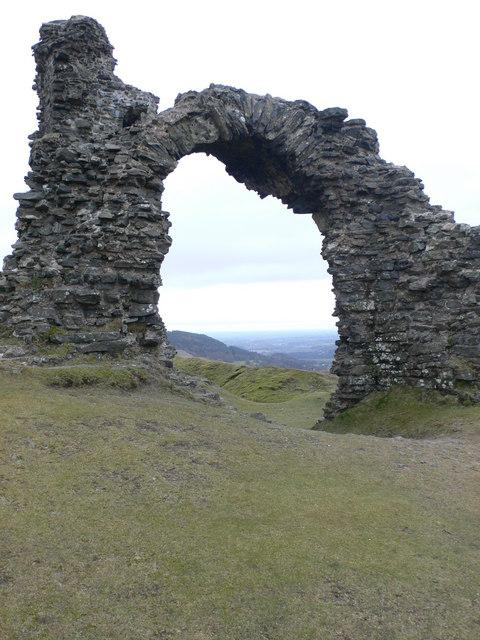Gateway in Castell Dinas Brân