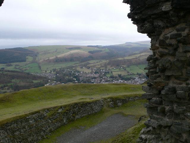 Llangollen from Castell Dinas Brân