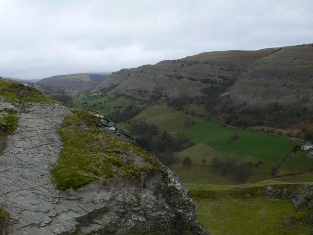 Eglwyseg Rocks from Castell Dinas Brân
