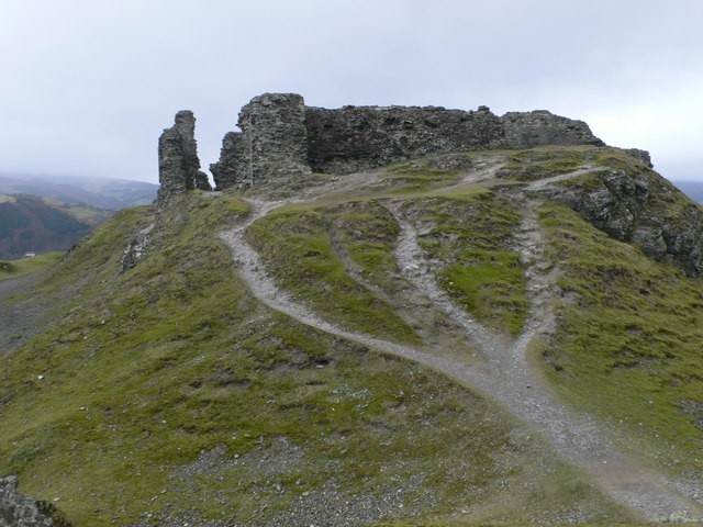 Eastern approach to the summit of Castell Dinas Brân