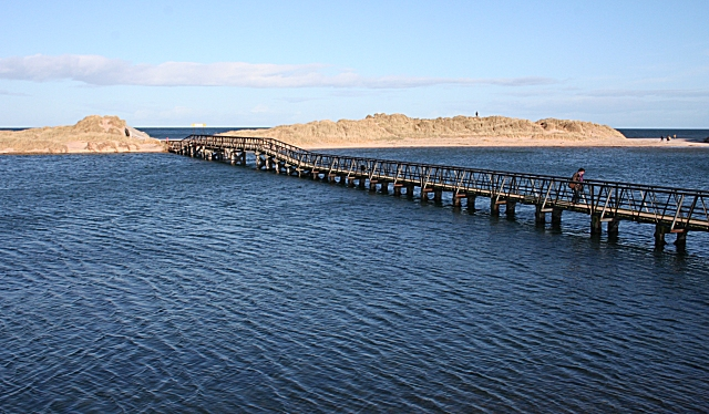 East Beach Footbridge at High Tide