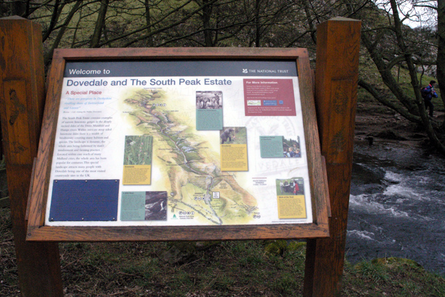 Information board, Dovedale