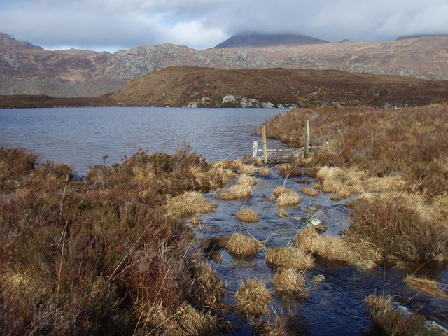 Outflow from Lochan Dubh a' Phluic