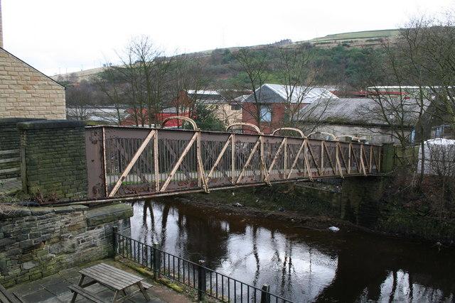 Footbridge across the River Calder, Sowerby Bridge