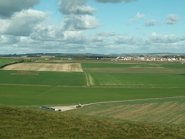 View Over Car Park at Maiden Castle