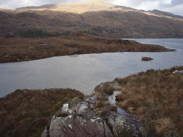 Southern end of Eilean Mhic an Fhùlaraich