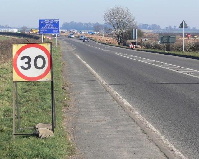 A47 towards the Earl Shilton Bypass
