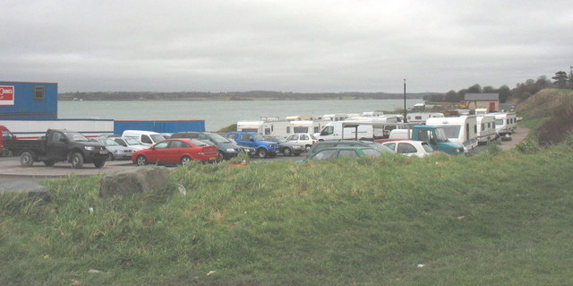 The town's only free carpark taken over by travellers