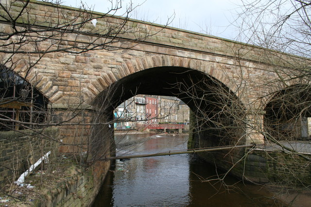 Railway bridge over the River Ryburn, Sowerby Bridge