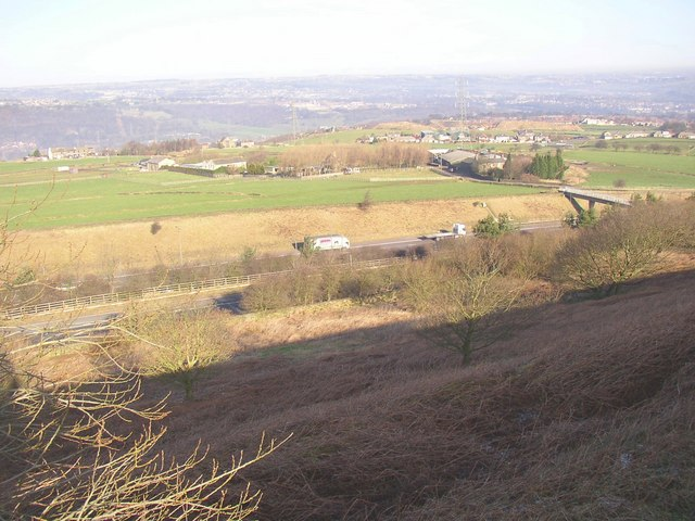 View of fields at Lower Moor Hey and Ridge End, Fixby