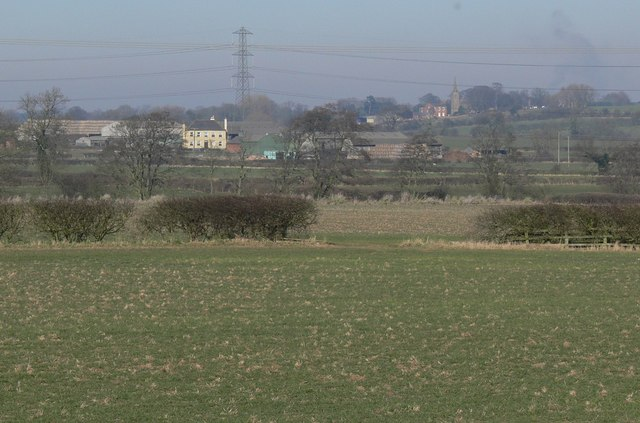 View north towards Peckleton in Leicestershire