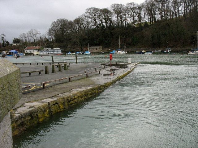 The western end of the Slate Quay at high water