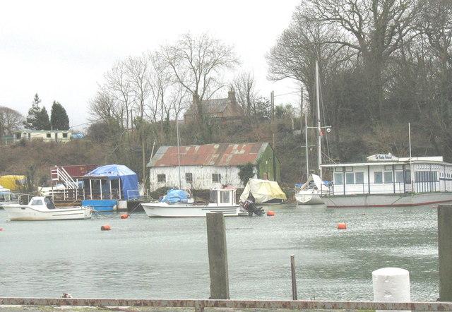 The boat yard at high water