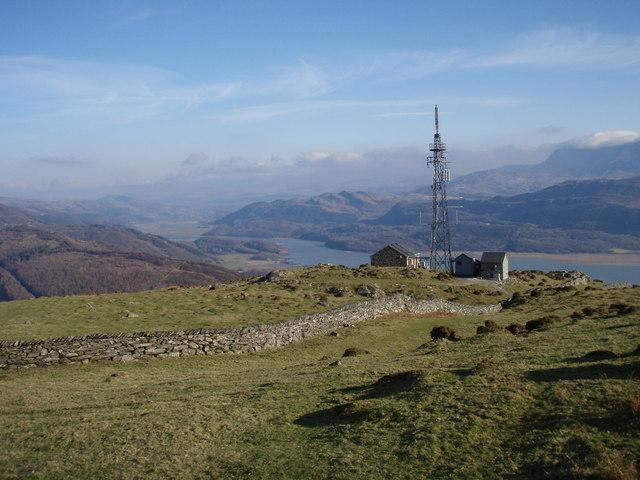 Radio Mast overlooking the Mawddach Estuary