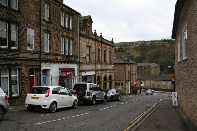 Looking down Tower Hill, Sowerby Bridge