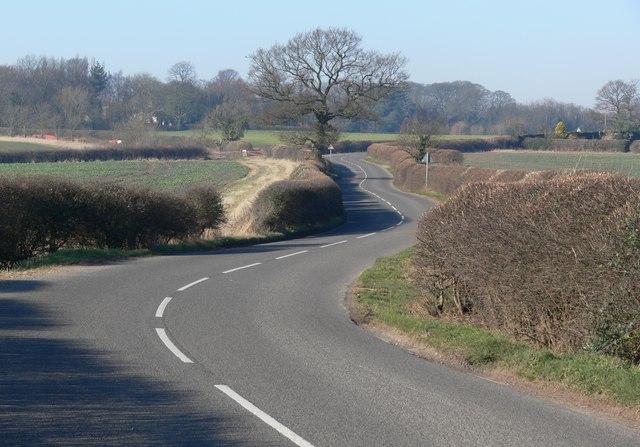 Shilton Road south of Kirkby Mallory