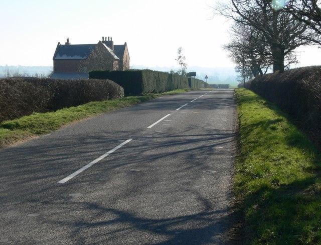Shilton Road near Glebe Farm