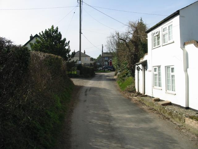 Looking SW along Chapel Lane