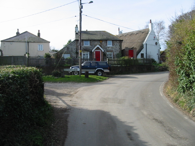 Houses on the corner of Chapel Lane and Northdowns Close
