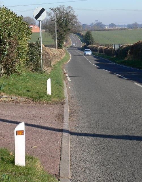 Peckleton Road towards Peckleton, Leicestershire