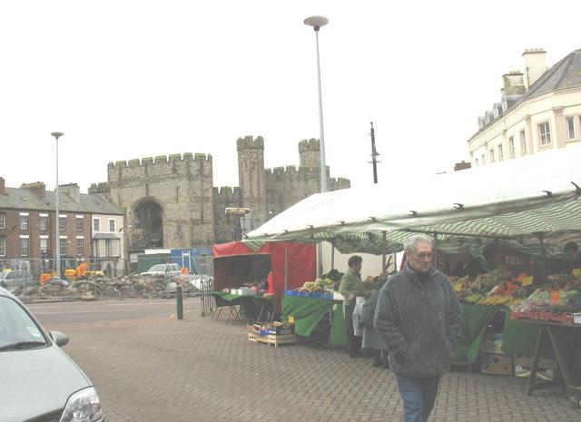 Caernarfon's Saturday Market
