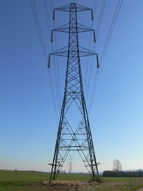 Electricity pylons near Kirkby Mallory