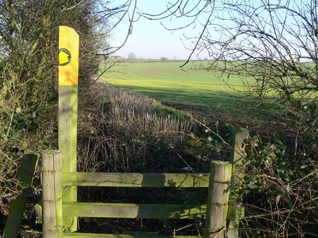 Public footpath to Kirby Muxloe