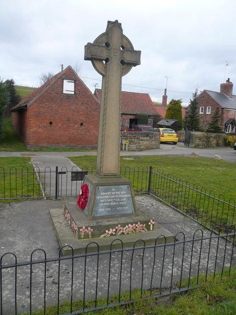 War Memorial in memory of the men of Sutton-Cum-Duckmanton