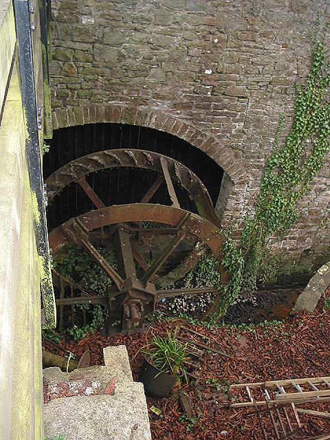 Old mill wheel at Abbey Mill, Tintern