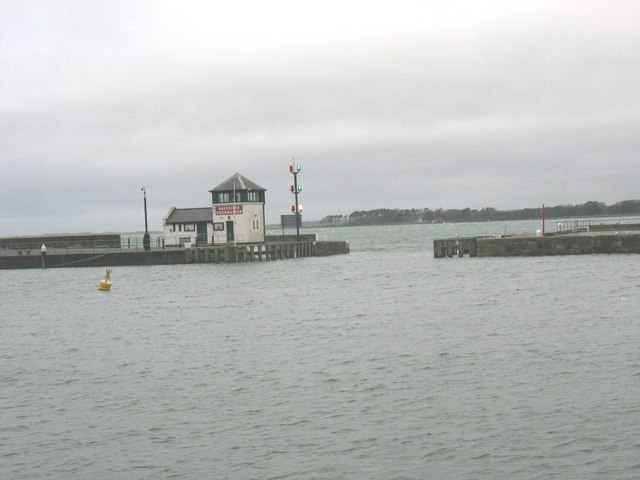 The entrance to Victoria Dock at high water