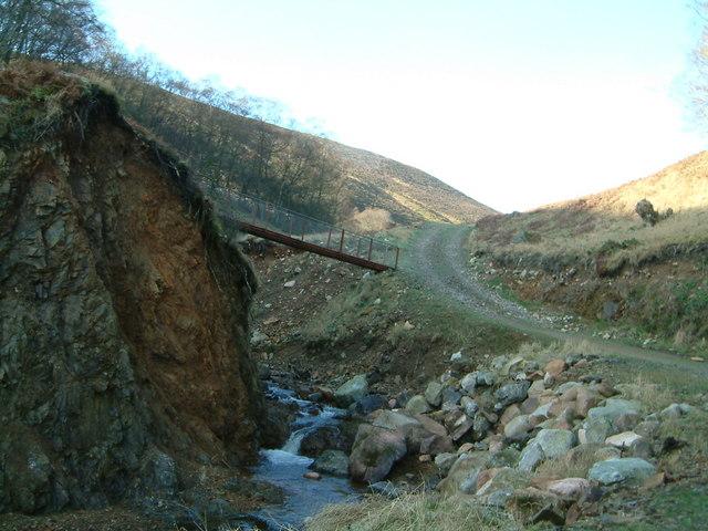New track & stalkers bridge by Burn of Arnbarrow