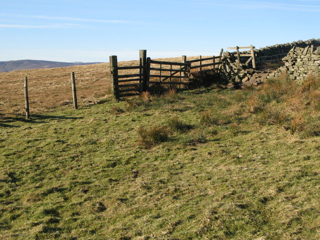 Fence and walls below Greenmere Head