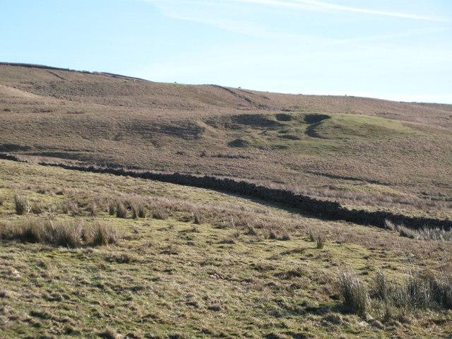 Old mining area near Scarsike Head