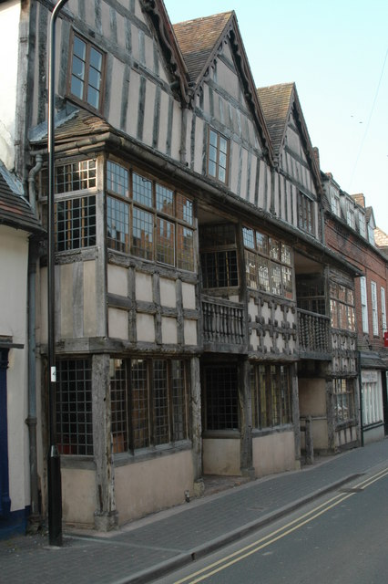 Half-timbered building in High St