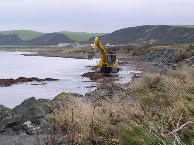 Digger on Shore