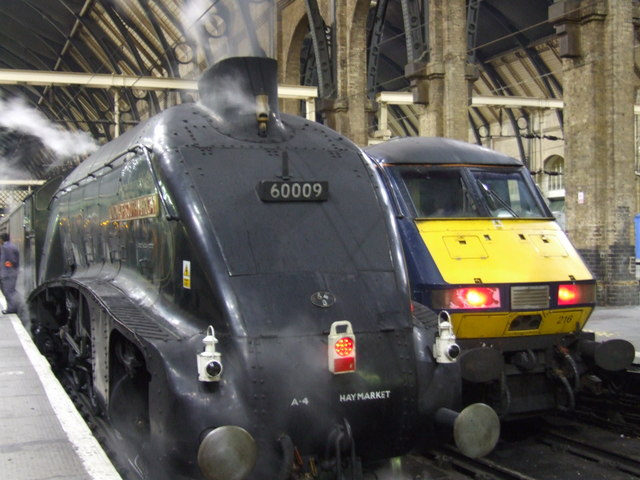 The Union of South Africa locomotive at King's Cross Station, London