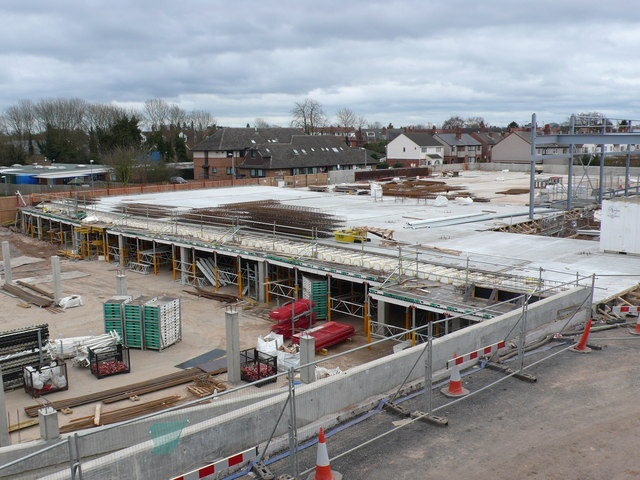 Construction of new supermarket, Kenilworth