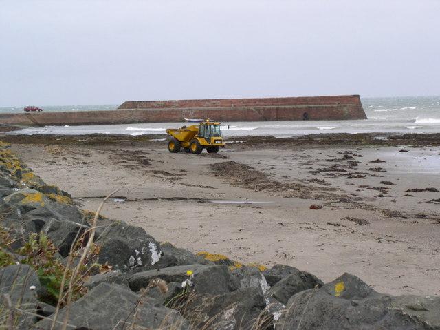 Dumper Truck at Harbour