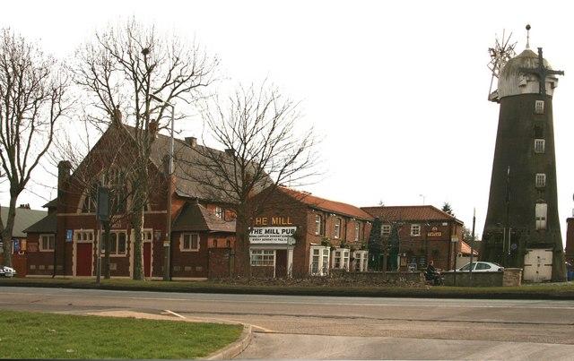 Church, Pub, and Windmill, East Hull