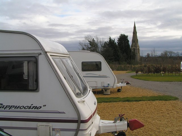 View of Greetham Church from the Caravan Site