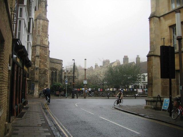 Silver Street turns into Trumpington Street