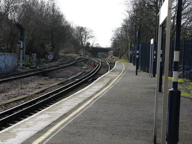 Looking south from New Beckenham station
