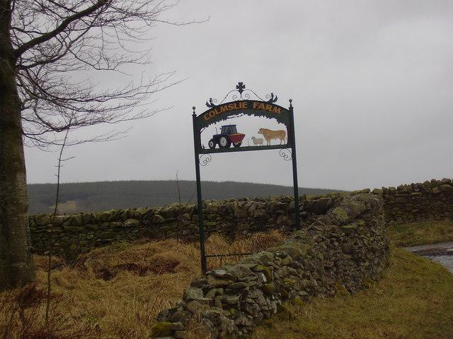 Sign at Colmslie Farm