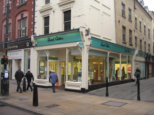 David Clulow - corner of Market Passage