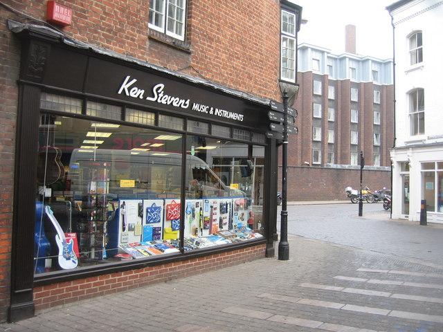 Ken Stevens - music shop