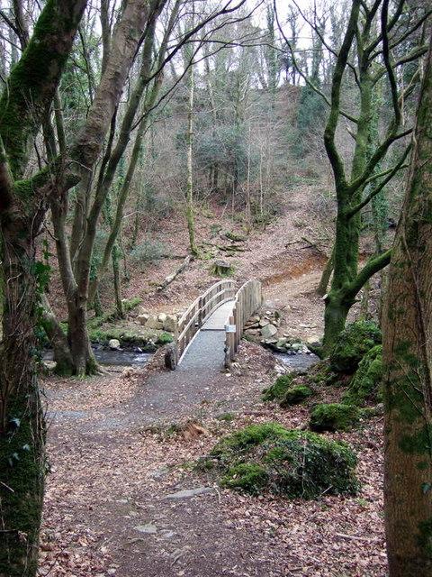 New footbridge near Llanychaer