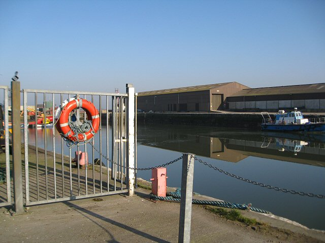 Limit of access, Glasson  Dock